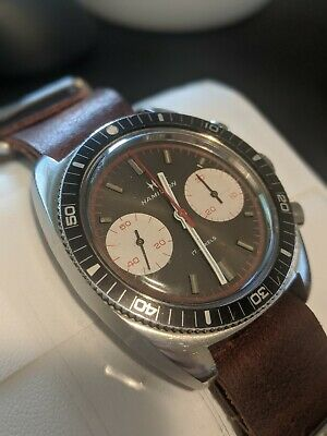 $ CDN1250 • Buy Vintage Hamilton Diver Big Eyes Runs, Chronograph Need Service