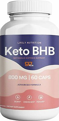 $14.99 • Buy Lifely Nutrition BHB Keto Diet Supplement - Weight Loss Fat Burn - Boost Energy