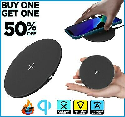 $ CDN11.38 • Buy Qi Wireless Fast Charger Charging Pad Dock For Samsung IPhone Android Cell Phone