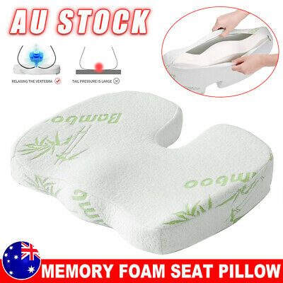 AU23.95 • Buy Bamboo Memory Foam Seat Cushion Coccyx Support Orthopedic Office Home Chair Pads