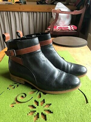 Clarks Black Tan Leather Boots 4 37 • 15£