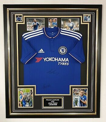 John Terry And Frank  Lampard Signed Shirt Autograph Jersey Framed Display • 595£