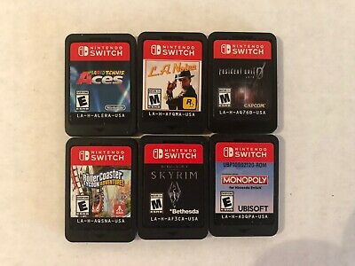 $115.50 • Buy Nintendo Switch Game Lot - Mario Tennis Aces, Resident Evil 0, Skyrim