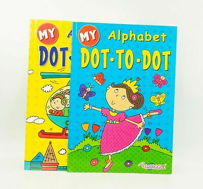 1x Dot To Dot Puzzle Book Alphabet Big A4 School Child Children Kids Colouring • 1.99£