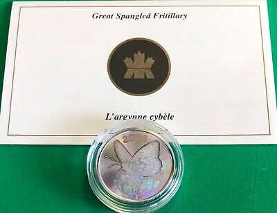 $14.75 • Buy 2005 Canada Great Spangled Fritillary Butterfly PROOF .925 Silver Coin /20,000