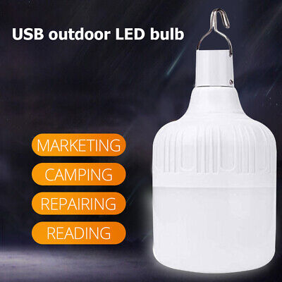 AU14.98 • Buy Portable LED Camping Light Bulb USB Rechargeable Outdoor Tent Emergency Lamp