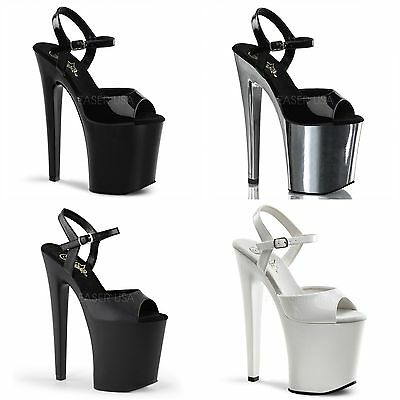 PLEASER Xtreme-809 Sexy Pole Lap Dancing Stiletto Heel Shoes Sandals • 65.95£