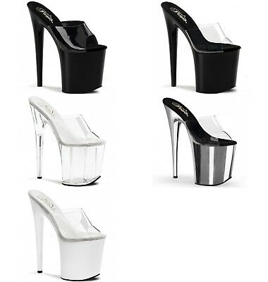 PLEASER Flamingo-801 Sexy Pole Lap Dancing Stiletto Heel Shoes Sandals • 59.95£