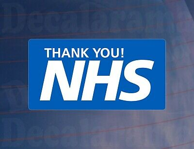 Car Sticker THANK YOU NHS Blue & White Van House Window Bumper Printed Decal • 2.09£