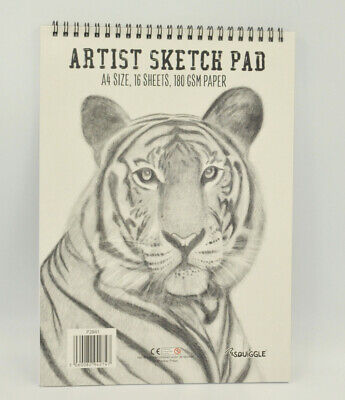 A4 Size Sketch Pad White Drawing Artist Paper On Spiral Book 16 Pages 180 GSM • 1.99£