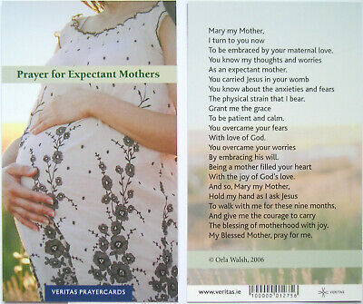 Prayer For Expentant Mothers Card  Catholic / Christianity _ Pregnancy • 1.95£