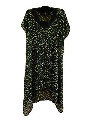 AU10 • Buy Womens Plus Clothing Taking Shape Brand - Size 12 Black And Green Top/Dress