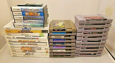 $ CDN98.70 • Buy BULK LOT OF 38 NINTENDO GAMES! NES, SNES, Wii, DS, MORE! SEE PICS!