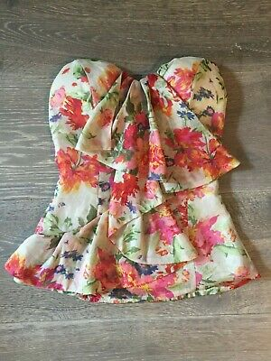 AU25 • Buy Fresh Soul Clothing Womens Floral Strapless Boob Tube Top Size 6 NEW WITH TAGS!