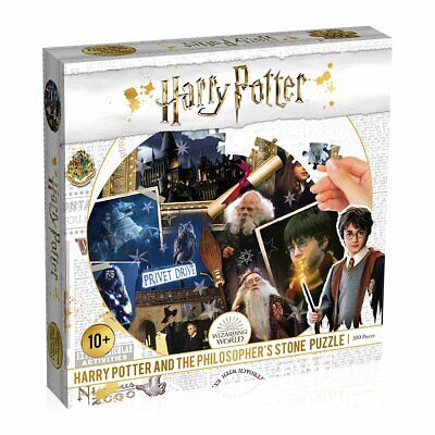$9.95 • Buy Harry Potter Philosopher's Stone 500 Piece Jigsaw Puzzle Game - New For 2020
