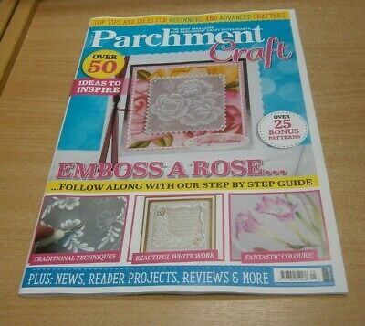 Parchment Craft Magazine MAY/JUN 2020 Emboss A Rose, Beautiful White Work & More • 9.99£