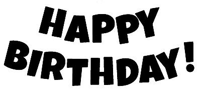 Birthday - Text - Happy Birthday #5 Unmounted Clear Stamp Approx 60x27mm • 3.99£