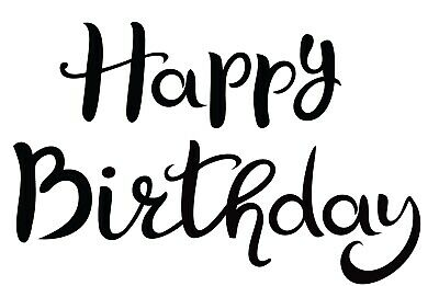 Birthday - Text - Happy Birthday #1 Unmounted Clear Stamp Approx 60x49mm • 3.99£