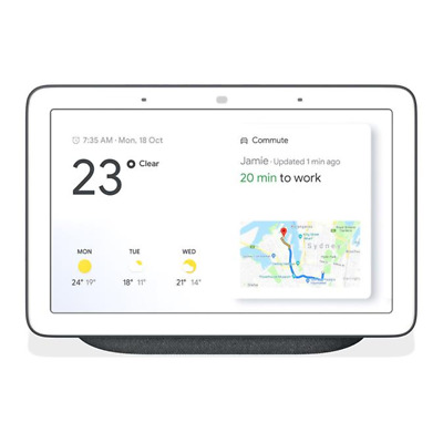 AU175 • Buy Google Home Nest Hub Smart Display & Home Assistant - Charcoal - [Au Stock]