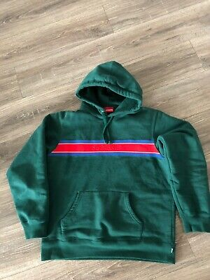 $ CDN209.46 • Buy Supreme Logo Hoodie Hoody Pullover Box Logo Gucci Green Mens Large