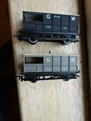 Oo Gauge - 2x Mixed Wagons - Gwr - Hornby - See Pics For Condition  • 3£