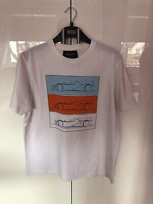 Gents Aston Martin Racing Logo Small White T-Shirt Ideal  For Aston Martin Fan • 3£