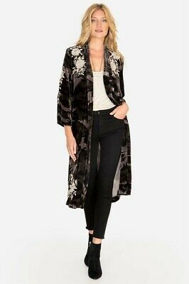 $159 • Buy $365 Johnny Was Santal Embroidered Velvet Silk Kimono Duster Nwt Sz M
