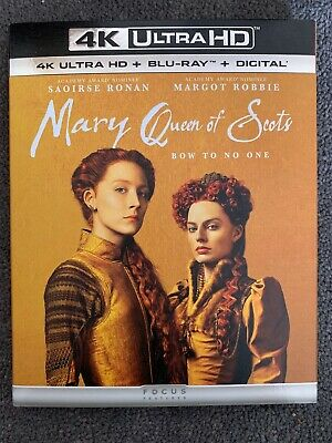 $15 • Buy Mary Queen Of Scots (4K Ultra HD Blu-ray Disc, 2019, Slip Cover)