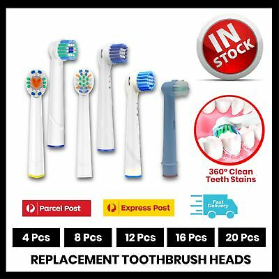 AU5.62 • Buy 🔥20x Electric Toothbrush Heads Oral B Compatible Replacement Brush Clean White