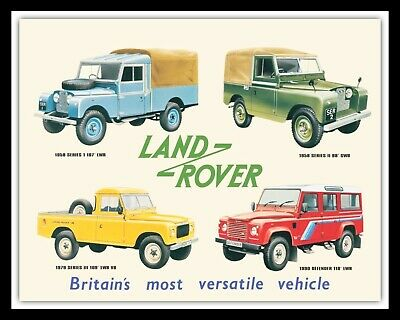 LAND ROVER JEEP 4x4 OFF ROAD GARAGE WORKSHOP MAN CAVE METAL PLAQUE TIN SIGN 591 • 6.99£