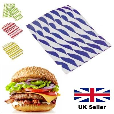 £4.99 • Buy Large Greaseproof Paper 32 X 25cm Sheets Burger Chips Food Wrap AntiGrease CHEAP