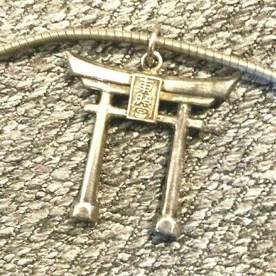 $ CDN56.40 • Buy STERLING SILVER Jewelry Lot: Necklace W/ Japanese Torii Shrine  LPendant SS-174