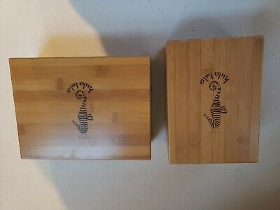 $14.75 • Buy 2 - Stained Wooden Craft/storage Boxes With Sea Horse , Hula Lula.