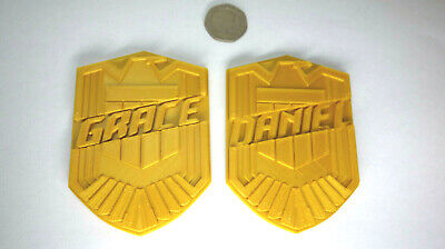 Custom Made With Your Name - Judge Dredd Golden Badge - Replica / Prop / Cosplay • 7.99£