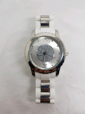 AU65 • Buy White And SIlver Guess Watch With Stones