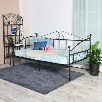 £52.89 • Buy Day Bed Solid Metal Bed Frame 3ft Single Bed Sofa Guest Bed Sustainable Daybed