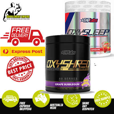 AU134.95 • Buy EHP Labs Oxyshred Hardcore Fat Burner Thermogenic Weight Loss  & OxySleep STACK