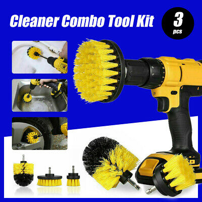 AU13.99 • Buy 3PCS Grout Power Scrubber Clean Drill Brush Tub Cleaner Combo Tool Kit Yellow