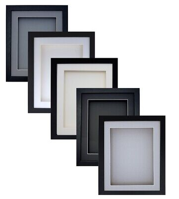£18.39 • Buy 3D Box BLACK Deep RECTANGLE Picture Photo Art Gift Craft Music CD Display Frame