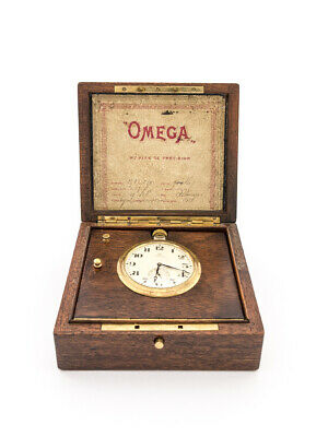 £2560.35 • Buy Extra Fine And One -of-a-kind OMEGA Table Clock Chronometer 1940's.