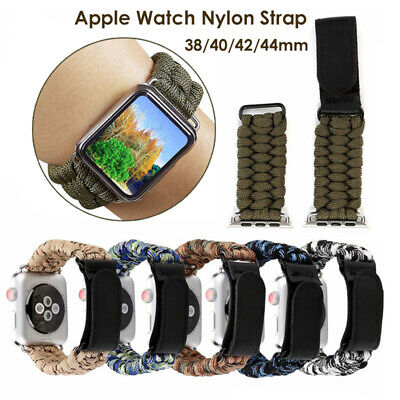 $ CDN9.78 • Buy Protective Case+Woven Nylon Band IWatch Strap For Apple Watch Series 5/4/3/2/1