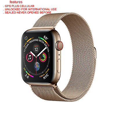 $ CDN951.16 • Buy NEW SEALED Apple Watch Series 4 44 Mm Gold Stainless Steel Case  Gold Milanese