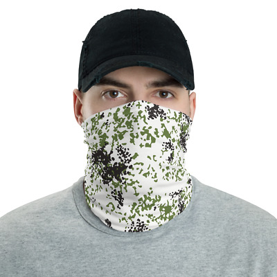 $24.95 • Buy German Danish French Snow Flecktarn Camouflage Neck Gaiter