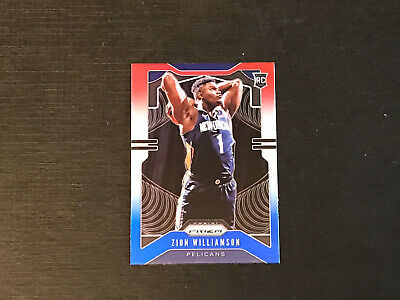 $199.99 • Buy 2019-20 Prizm ZION WILLIAMSON Red White Blue Prizm Rookie Card #248 Pelicans Rc