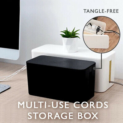 Plug Cable Storage Box Wire Management Socket Safety Tidy Organizer • 8.35£