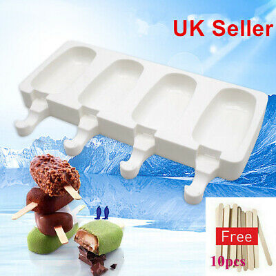 Silicone Block Pole Lolly Frozen Mould DIY Tool Maker Mold Ice Cream Popsicle • 5.07£