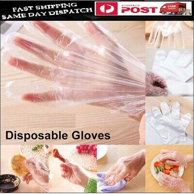 AU5.99 • Buy Disposable Plastic Gloves Food Handling Transparent Glove