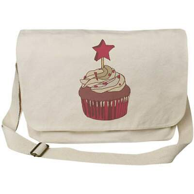 'Red Velvet Cupcake' Cotton Canvas Messenger Bags (MS025808) • 14.99£