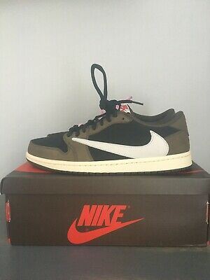$150 • Buy Travis Scott Jordan 1 Low Size 12 Men Brown/White/Black VNDS Read Description