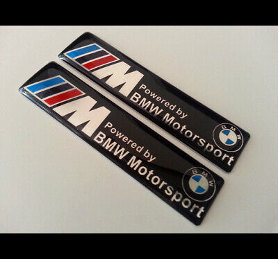 AU12 • Buy  2 X M Power BMW Motorsport EMBLEM Badge M3 M5 M6 X5 X6 E39 E60 E61 E65 E66